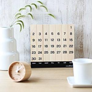 オブジェ、おもちゃ/木の万年カレンダー/モアトゥリーズデザイン_Image_2