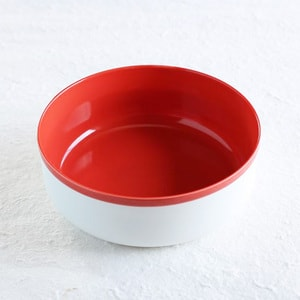 Bowl / φ180 / Red and White / S&B Series / 1616 arita japan