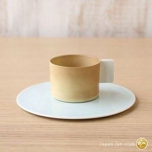 Coffee Cup & Saucer / Light Brown × White Blue / S&B Series / 1616 arita japan