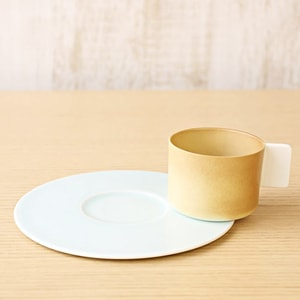 Coffee Cup & Saucer / Light Brown × White Blue / S&B Series / 1616 arita japan_Image_2