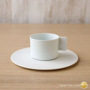 Coffee Cup & Saucer/ White/ S&B Series/ 1616 arita japan