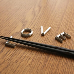箸置き/LOVE 4ヶセット/能作_Image_1