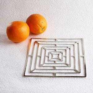 Tin tableware KAGO / Square / M / Nousaku _Image_1