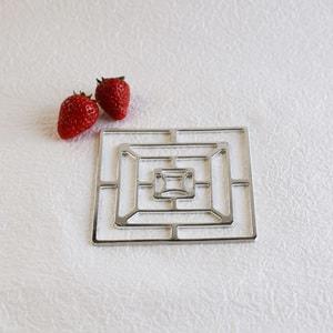Tin tableware KAGO / Square / S / Nousaku _Image_1