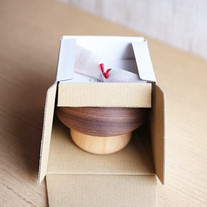 Mushroom wooden bowl and spoon for baby / Walnut / Sunao Lab_Image_3