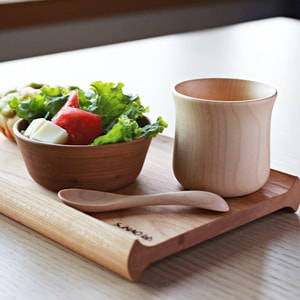 Mushroom wooden bowl and spoon for baby / Cherry tree / Sunao Lab_Image_2