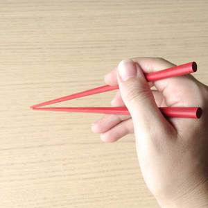 Wipe-lacquering Chopsticks/ Red_Image_1