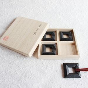 Chopstick Rests/ Kaku(Square)×4/ Chushin Kobo_Image_1