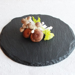 SUZURI (slate cheese board) / Round Plate / L / Studio GALA_Image_1