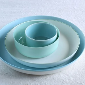 Deep Plate/φ228/ White& Light Green/ S&B Series/ 1616 arita japan_Image_2