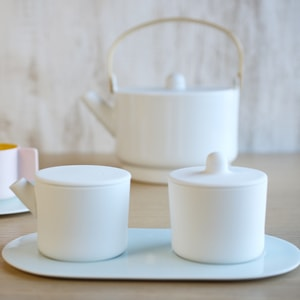 Sugar and Creamer Set with Tray/ White&Blue/ S&B Series/ 1616 arita japan_Image_2