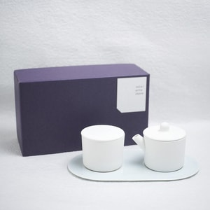 Sugar and Creamer Set with Tray/ White&Blue/ S&B Series/ 1616 arita japan_Image_3