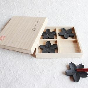 Chopstick Rests/ Sakura(Cherry blossom)×4/ Chushin Kobo