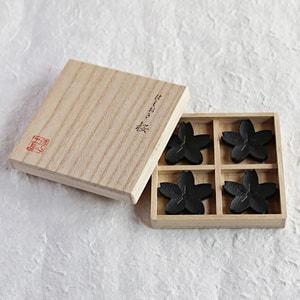 箸置き/桜 4ヶセット 黒/鋳心ノ工房_Image_3