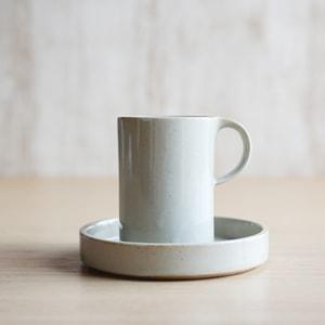カップ&ソーサー/モデラート ハイカップ&ソーサー グレー/ceramic japan