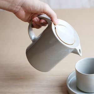 ティーポット/モデラート ティーポット グレー/ceramic japan