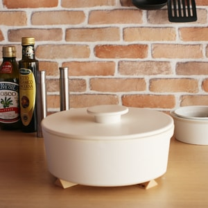 Earthenware Pot / L / White / do-nabe Series