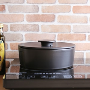 Earthenware Pot/ IH/ L/ Black/ do-nabe Series