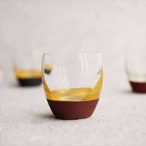 Lacquer Sake cup/ Gold & Red/ Toba Shitsugei