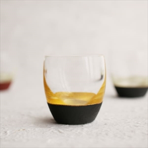 Sake Cup of Lacquer Art/ Gold&Black