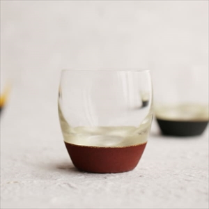 Lacquer Sake cup / Silver & Red / Toba Shitsugei