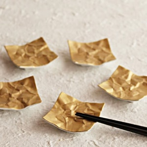 Chopstick Rest/ Gold/ CRINKLE Series