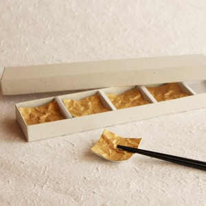 Chopstick Rest/ Gold/ CRINKLE Series_Image_1