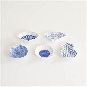 【セット】印判豆皿 5枚組モチーフ(化粧箱入)/東屋_Image_1