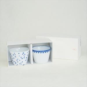[Set] [Exclusive box] Pair Inban-Soba choko / Arare + Youraku / Azmaya