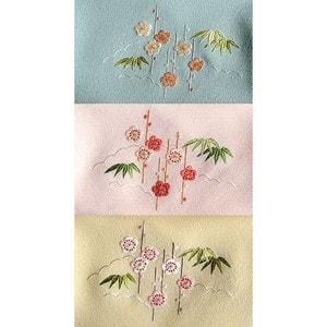 初めての日本刺繍キット(ふくさ・梅柄・黄色)
