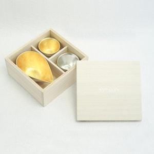 [Set] [Paulownia box] 1 Katakuchi S Gold + 2 KIKI-Ⅱ(Gold & Silver) / Nousaku_Image_3