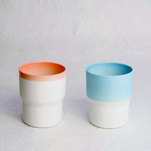 [Set of 2] [Exclusive Box] / Mug / Pink & Light blue / S&B series / 1616 arita japan_Image_1