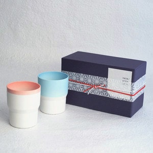 [Set of 2] [Exclusive Box] / Mug / Pink & Light blue / S&B series / 1616 arita japan_Image_3