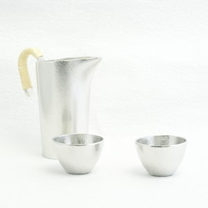[Set]1 Chirori L + 2 Guinomi Silver / Nousaku