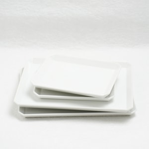 [Set of 4 plates] [Exclusive box] Square Plate (W165 × 2+ W235 × 2)/ W165 / 1616 arita japan_Image_1