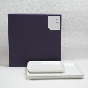 [Set of 4 plates] [Exclusive box] Square Plate (W165 × 2+ W235 × 2)/ W165 / 1616 arita japan_Image_3