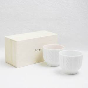 [Set] Pair teacups / Knit Wear / Red & White / Trace Face series / CEMENT PRODUCE DESIGN