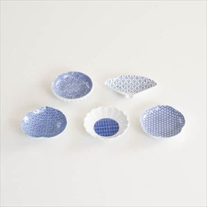 【セット】印判豆皿 5枚組丸型(化粧箱入)/東屋_Image_1