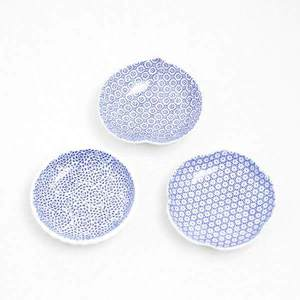[A set of 3 plates] [Exclusive box] Round inban-mamezara / Azmaya