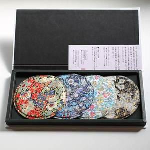 COASTER リバティアートファブリックス×竹中金彩 4枚セット スペシャルコレクション