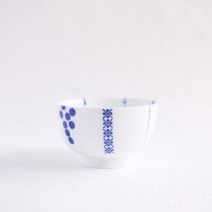 Flower rice bowl/ Hanakazari/ Large/ Azmaya