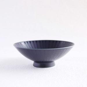 Flat rice bowl/ Navy Mat U-1/ Hakusan Toki