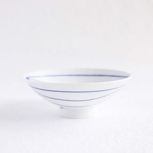 Flat rice bowl/ White Mat ST-15/ Hakusan Toki