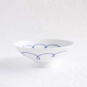 Flat rice bowl/ White Mat ST-10/ Hakusan Toki