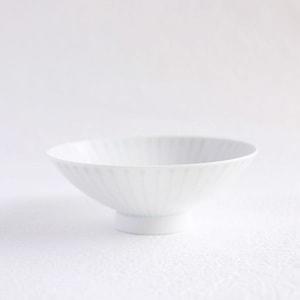 Flat rice bowl/ White Mat S-1/ Hakusan Toki