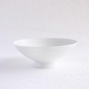 Flat rice bowl/ White Mat S-15/ Hakusan Toki