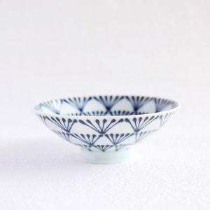 Flat rice bowl/ Folk Navy Glossy P-8/ Hakusan Toki
