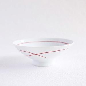 平茶碗 レッドライン  艶あり AB-9/白山陶器