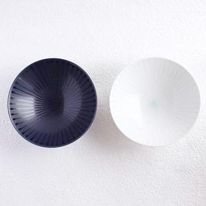 【セット】平茶碗ペア ネイビー&ホワイト(化粧箱入)/白山陶器_Image_1