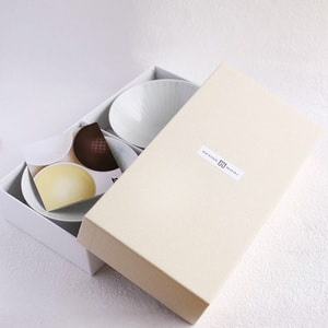 [Set][Exclusive box] Pair flat rice bowls / Folk Brown & Folk Navy / Hakusan Toki_Image_3